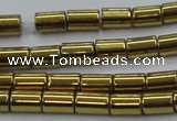 CHE768 15.5 inches 3*5mm tube plated hematite beads wholesale