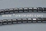 CHE774 15.5 inches 2*2mm drum plated hematite beads wholesale