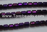 CHE778 15.5 inches 2*2mm drum plated hematite beads wholesale