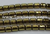 CHE787 15.5 inches 4*4.5mm drum plated hematite beads wholesale