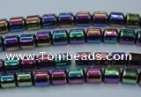 CHE790 15.5 inches 4*4.5mm drum plated hematite beads wholesale