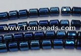 CHE791 15.5 inches 4*4.5mm drum plated hematite beads wholesale