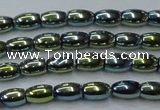 CHE798 15.5 inches 3*5mm rice plated hematite beads wholesale