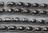 CHE802 15.5 inches 4*6mm rice plated hematite beads wholesale