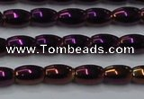 CHE805 15.5 inches 4*6mm rice plated hematite beads wholesale