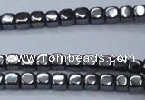 CHE818 15.5 inches 4*4mm dice hematite beads wholesale