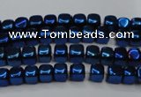 CHE851 15.5 inches 2*2mm dice platedhematite beads wholesale