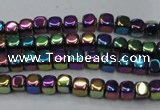 CHE852 15.5 inches 2*2mm dice platedhematite beads wholesale