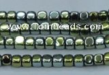 CHE863 15.5 inches 3*3mm dice platedhematite beads wholesale