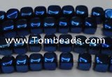 CHE872 15.5 inches 4*4mm dice platedhematite beads wholesale