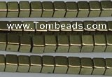 CHE879 15.5 inches 2*2mm cube plated hematite beads wholesale