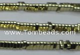 CHE920 15.5 inches 1*3mm triangle plated hematite beads wholesale