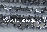 CHE936 15.5 inches 4mm star plated hematite beads wholesale