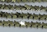 CHE937 15.5 inches 4mm star plated hematite beads wholesale