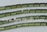 CHE957 15.5 inches 2*4mm cuboid plated hematite beads wholesale