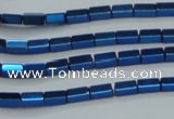CHE959 15.5 inches 2*4mm cuboid plated hematite beads wholesale