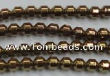 CHE975 15.5 inches 4*4mm plated hematite beads wholesale