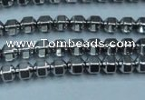 CHE981 15.5 inches 4*4mm plated hematite beads wholesale