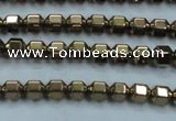 CHE984 15.5 inches 4*4mm plated hematite beads wholesale