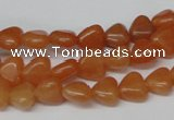 CHG02 15.5 inches 8*8mm heart red aventurine beads wholesale