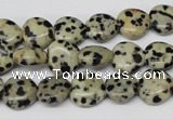 CHG19 15.5 inches 10*10mm heart dalmatian jasper beads wholesale