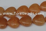CHG47 15.5 inches 14*14mm heart red aventurine beads wholesale