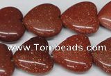 CHG70 15.5 inches 18*18mm heart goldstone beads wholesale