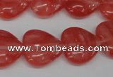 CHG74 15.5 inches 18*18mm heart cherry quartz beads wholesale
