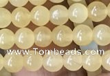 CHJ10 15.5 inches 4mm round honey jade beads wholesale