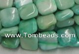 CHM08 16 inches 14*14mm square green hemimorphite beads wholesale