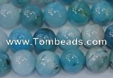 CHM203 15.5 inches 10mm round blue hemimorphite beads wholesale