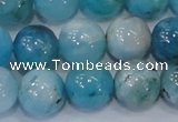 CHM205 15.5 inches 14mm round blue hemimorphite beads wholesale