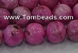 CHM225 15.5 inches 14mm round dyed hemimorphite beads wholesale
