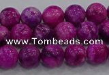 CHM230 15.5 inches 8mm round dyed hemimorphite beads wholesale