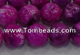 CHM233 15.5 inches 14mm round dyed hemimorphite beads wholesale