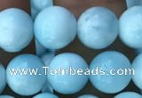 CHM302 15.5 inches 8mm round blue hemimorphite gemstone beads