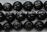CHS53 15.5 inches 12mm round natural hypersthene beads