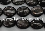 CHS72 15.5 inches 12*16mm oval natural hypersthene beads