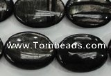 CHS75 15.5 inches 18*25mm oval natural hypersthene beads