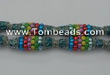CIB587 16*60mm rice fashion Indonesia jewelry beads wholesale