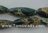 CIJ103 15.5 inches 10*30mm rice impression jasper beads wholesale