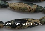 CIJ104 15.5 inches 12*40mm rice impression jasper beads wholesale