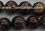 CIJ115 15.5 inches 12mm round dyed impression jasper beads wholesale