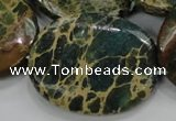 CIJ16 15.5 inches 30*40mm oval impression jasper beads wholesale