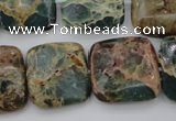 CIJ56 15.5 inches 20*20mm square impression jasper beads wholesale