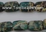 CIJ70 15.5 inches 8*12mm rectangle impression jasper beads wholesale