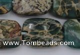 CIJ72 15.5 inches 12*16mm rectangle impression jasper beads wholesale
