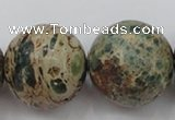 CIJ86 15.5 inches 18mm round impression jasper beads wholesale