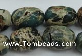 CIJ90 15.5 inches 10*14mm drum impression jasper beads wholesale