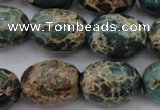 CIJ93 15.5 inches 15*20mm drum impression jasper beads wholesale